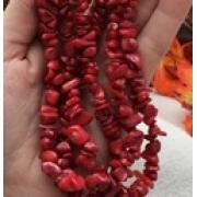 Бусины коралл крошка (нить)