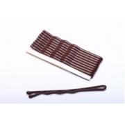 Невидимки металлические HIT-50 5 см 15 шт. коричневые