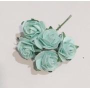 Розы из бумаги 2 см (5 шт.) мятный
