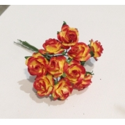 Розочки 1 см (10 шт.) желто-красный