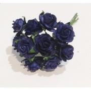 Розочки 1 см (10 шт.) темно-синий