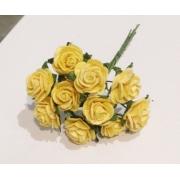 Розочки 1 см (10 шт.) желтый