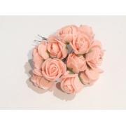 Розы из фоамирана 2 см (12 шт) персиковые