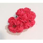 Розы из фоамирана 2 см (12 шт) красные