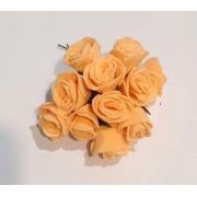 Розы из фоамирана 2 см (12 шт) оранжевые