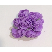 Розы из фоамирана 2 см (12 шт) сиреневые