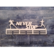 """Медальница спортивная бег/лыжи """"Never stop"""" 50см"""