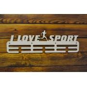 """Медальница спортивная бег """"I love sport"""" 50см"""