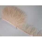 Перья страуса на ленте (48см) кремовый