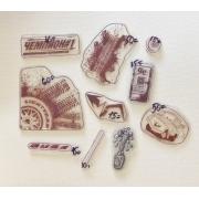 Набор силиконовых штампов для скрапбукинга №13