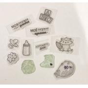 Набор силиконовых штампов для скрапбукинга №7