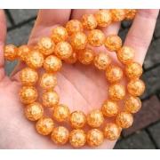 Битый (сахарный) кварц оранжевый 10мм (4шт.)