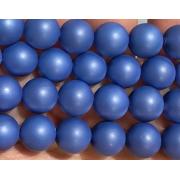 Бусины керамика матовые 8 мм (4шт.) синие