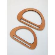Ручки для сумок деревянные №5 10.5х17.5см (пара), пропитка морилкой