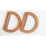 Ручки для сумок деревянные с прорезью 17х13см (пара), пропитка морилкой