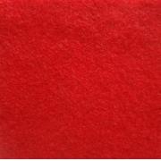 Фетр Китай мягкий  20х30 см 1мм Красный 005 (2 листа)