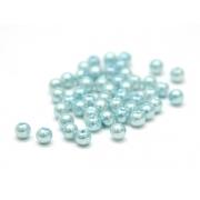 Бусины пластик PB-1 6мм (50шт.) светло-голубые