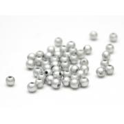 Бусины пластик PB-1 6мм (50шт.) серебряные