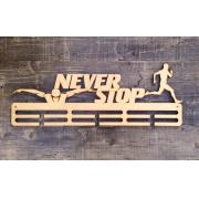 """Медальница спортивная бег/плавание """"Never stop"""" 50см"""