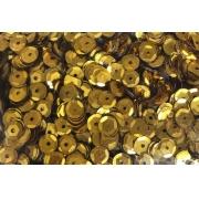 Пайетки 6 мм 10 г темное золото