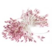 Тычинки малые с блестками светло-розовый (пучок)