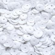 Пайетки 6 мм 10 г белые