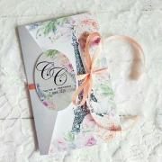 """Свадебное приглашение """"Париж"""""""
