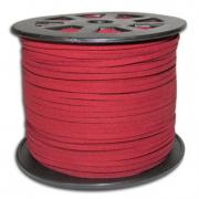 Шнур замшевый 2,5х2 мм (1метр) красный