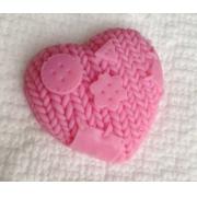 """Мыло сувенирное ручной работы """"Вязаное сердце"""""""