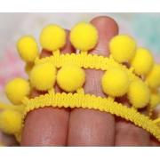 Тесьма с помпонами FBL-02 120 темно-желтый