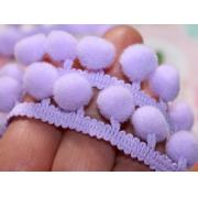 Тесьма с помпонами FBL-02 081 светло-фиолетовый