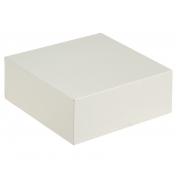 Коробка для торта белая 25.5х25.5х10.5см