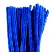 Проволока  синельная 30 см синий, 50 шт