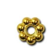 Бусины разделительные рондель DR-010 2 мм под золото