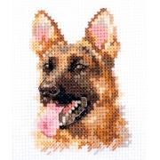 """Набор для вышивания  0-209 """"Животные в портретах. Овчарка"""" 8х6 см"""