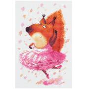"""Набор для вышивания """"Белочка-балерина"""" 8-234 11,5х17,5 см"""