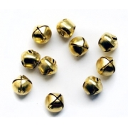 Бубенчики NX-25 25 мм под золото (10 шт.)