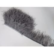 Перья страуса на ленте (48см) серые