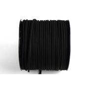 Шнур замшевый 2,5х2мм (1метр) чёрный