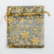 Мешочек подарочный органза «С Новым годом!», 10 × 12 см