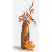 """Набор для вышивания """"Желтый листок"""" В-0496 12,5х27 см"""