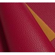 Кожа искусственная зернистая матовая 22х30 см, бордовый (1 лист)
