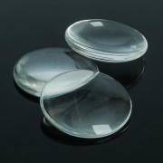 Кабошон стекло, круг 25мм, цвет прозрачный (1 шт)