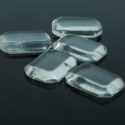 Кабошон стекло, прямоугольник 13*18мм, цвет прозрачный (1 шт)