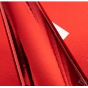 Кожа искусственная зеркальная 22х30 см, красный, 1 лист