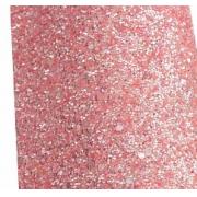 Кожа искусственная Пайетки пастель 20х30 см, розовый персик, 1 лист