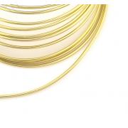 Проволока для плетения 2 мм светлое золото SF-906, 3 метра
