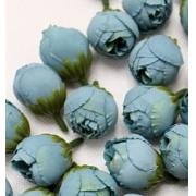 """Бутон цветов """"Пион"""" 2,5 см  бирюзовый, 2 шт"""