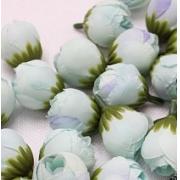 "Бутон цветов ""Пион"" 2,5 см  голубой, 2 шт."