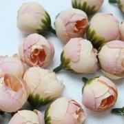 """Бутон цветов """"Пион"""" 2,5 см розовый/персиковый, 2 шт"""